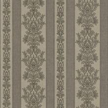 Kensington Grey Damask Stripe