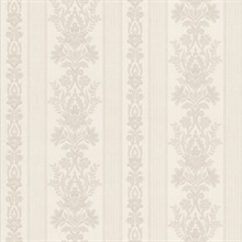 Kensington Off-White Damask Stripe