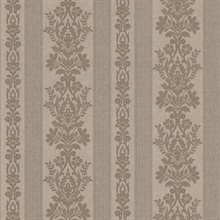 Kensington Pewter Damask Stripe