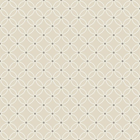 Kinetic Beige Geometric Floral