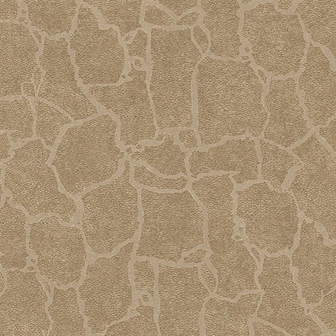 Kordofan Gold Faux Giraffe Animal Skin Wallpaper