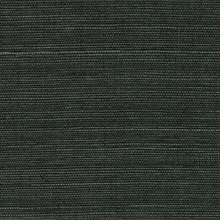 Kowloon Charcoal Black Sisal Grasscloth Wallpaper