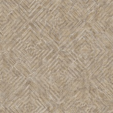 Labyrinth Bronze Geometric Wallpaper