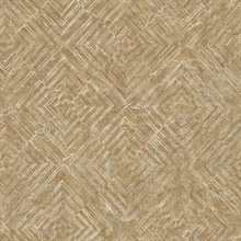 Labyrinth Gold Geometric Wallpaper