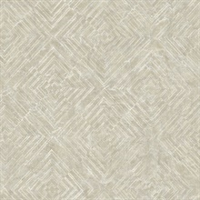 Labyrinth Platinum Geometric Wallpaper