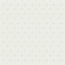 Lacey Circle Geo Wallpaper - Cream/Gray
