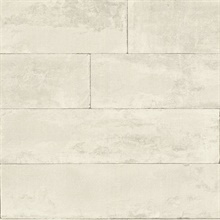 Lanier Dove Stone Plank Textured Wallpaper