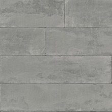 Lanier Grey Stone Plank Textured Wallpaper