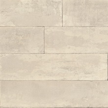 Lanier Neutral Stone Plank Textured Wallpaper