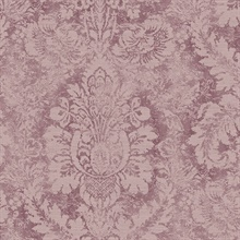 Large Damask Plum Wallpaper