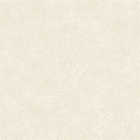 Latigo Bone Faux Leather Wallpaper