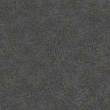 Latigo Charcoal Faux Leather Wallpaper