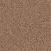 Latigo Copper Faux Leather Wallpaper