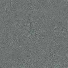 Latigo Medium Blue Faux Leather Wallpaper