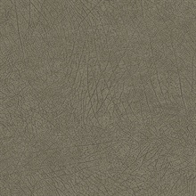 Latigo Olive Faux Leather Wallpaper