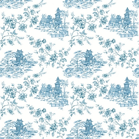 Laure Blueberry Toile