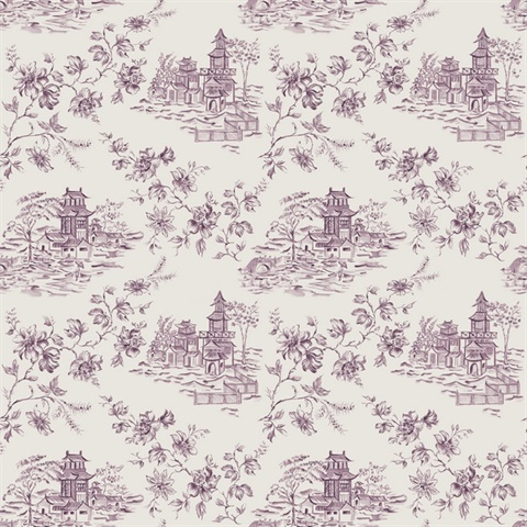 Laure Purple Toile
