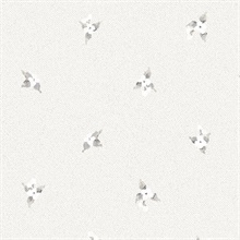 Laurel Spots Grey Wallpaper