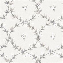 Laurel Vines Light Grey Wallpaper