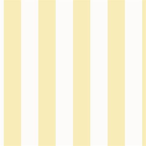 SD36123 | Yellow & White Stripe Wallpaper by Norwall