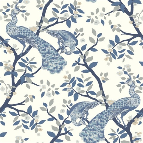 Dr6318 Le Peacock Wallpaper Boulevard