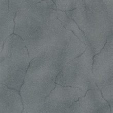 Leon Charcoal Faux Marble Stone Commercial Wallpaper