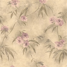 Liang Mauve Chinese Floral