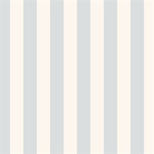 Light Beige and Pale Blue Vertical 1.25in Stripe Prepasted Wallpaper