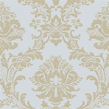 Light Blue and Gold Dimitrie Damask