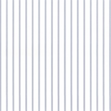 Light Blue and White Ticking Stripe Prepasted Wallpaper
