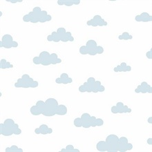 Light Blue Disney Winnie the Pooh Clouds Wallpaper