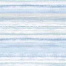 Light Blue Fleeting Horizon Horizontal Stripe Wallpaper