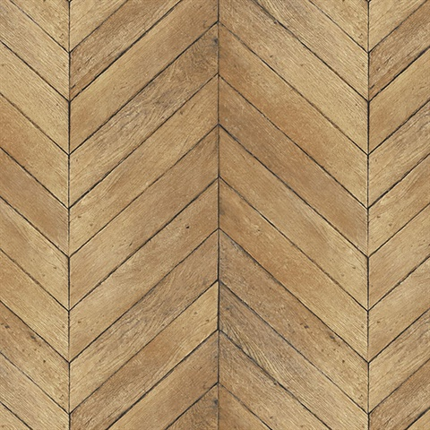 Light Brown Faux Wood Chevron