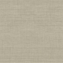 Light Brown Grass Texture Screen Print with Textile Strings Wallpaper
