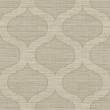 Light Brown Large Ogee On Textured Textile Strings Background Wallpape