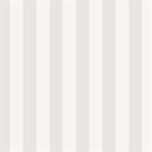 Light Grey and Grey Vertical 1.25in Stripe Prepasted Wallpaper