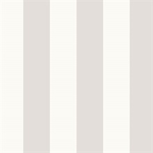 Light Grey and Grey Vertical 2.5in Tent Stripe Prepasted Wallpaper