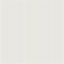 Light Grey and White Baby Stripe Prepasted Wallpaper