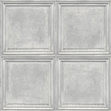 Light Grey Charleston Faux Wood Panels Wallpaper