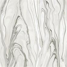 Light Grey Liquid Marble Wallpaper
