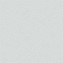 Light Grey Twisted Tailor Geometric Wallpaper
