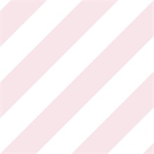 Light Pink and White Diagonal Stripe Prepasted Wallpaper
