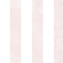 Light Pink and White Vertical 2.5in Stripe with Texture Prepasted Wall