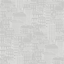 Limelight Grey City Wallpaper