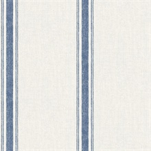Linette Blue Fabric Stripe