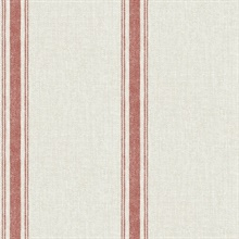 Linette Red Fabric Stripe