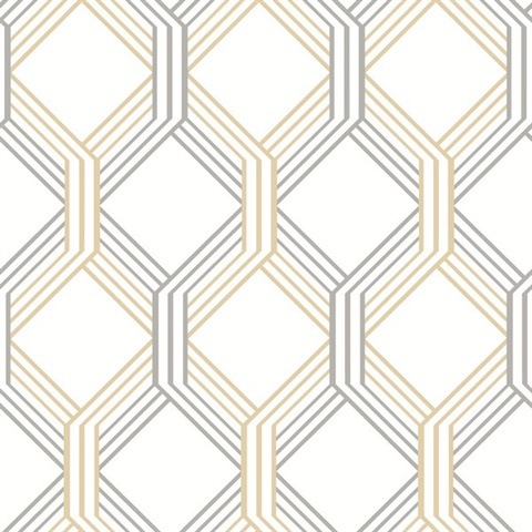2697 78051 Linkage Gold Trellis Wallpaper