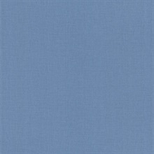 Lino Blue Fabric Texture Wallpaper