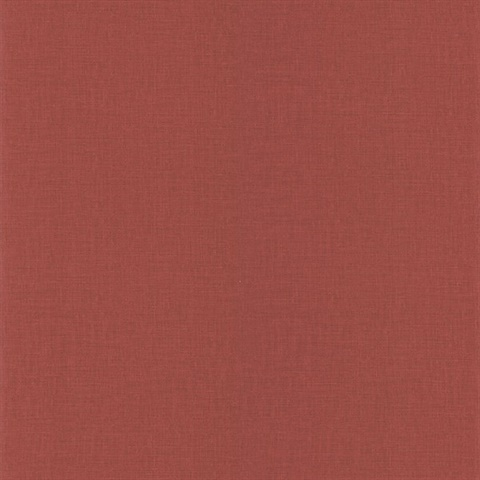 Lino Red Fabric Texture Wallpaper