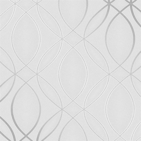 Lisandro Light Grey Geometric Lattice
